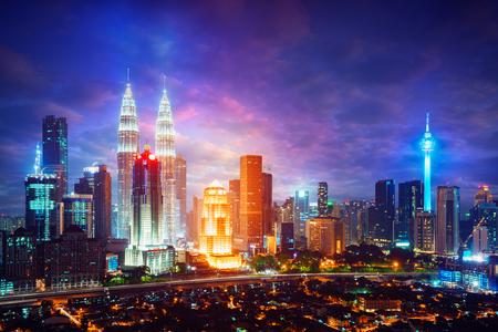 Downtown district Kuala Lumpur skyline, Kuala Lumpur Malaysia Standard-Bild
