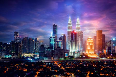 Downtown district Kuala Lumpur skyline, Kuala Lumpur Malaysia 写真素材