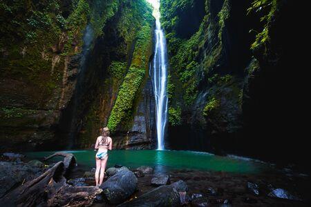 Grombong waterfall, Sekumbul waterfalls, Bali Indonesia Standard-Bild