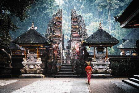 Pura Tirta Empul temple, Bali Indonesia Standard-Bild - 131816533