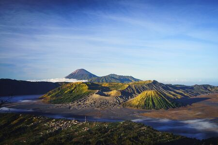 Mt Bromo, is an active volcano and part of the Tengger massif, in East Java, Indonesia. Standard-Bild - 135801456
