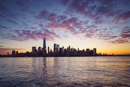 New york city skyline, New york USA Standard-Bild