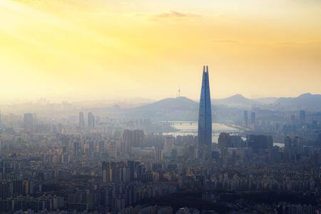 Air pollution PM 2.5 in seoul, South Korea