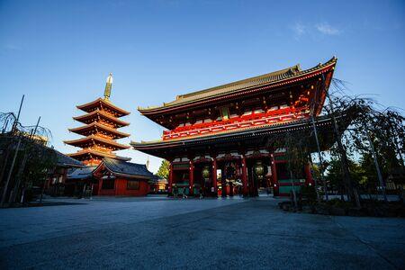 Beautiful Sensoji-ji Temple, Asakusa Tokyo Japan