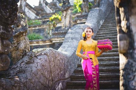 Indonesian woman in bali costume Indonesian national dress, Bali Indonesia