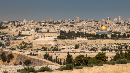 mount of olives: Jerusalem viewed from Mount of Olives