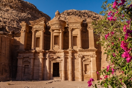 monastery nature: The Monastery in Petra, Jordan
