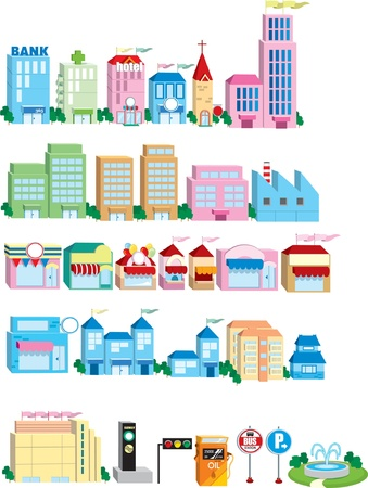 Icon of Building  Stock Vector - 11674020