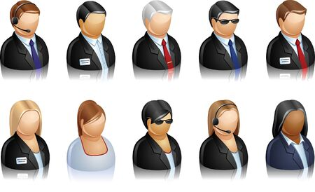 Icon of business people Vector
