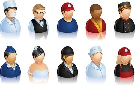 Icon of people working in hotel or shop Ilustração
