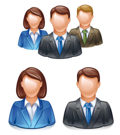 Business People Stock Vector - 17115830
