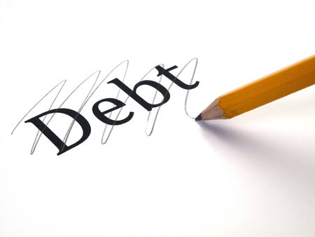 Debt which is being paid off and erased photo