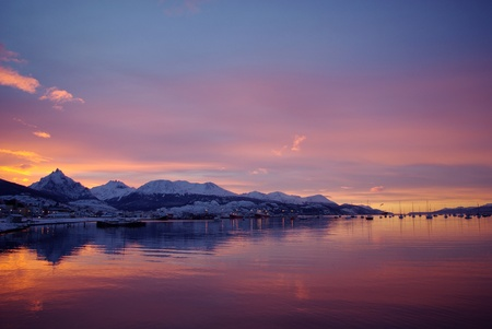 tierra: Canal de Beagle Ushuaia Patagonia Argentina Stock Photo