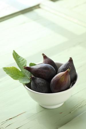 Fresh Figs with Fig Leaf photo