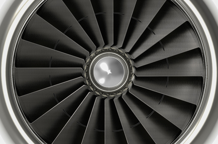 3d rendering. airplane  fan engine background Stock Photo