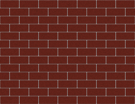3d rendering. Seamless Red brown color brick blocks wall background.