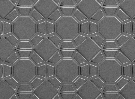 3d rendering. Abstract Hexagon pattern steel wall background. Stock Photo