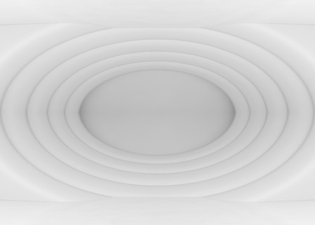 3d rendering. Abstract modern white ripple Elipse shape wall background.