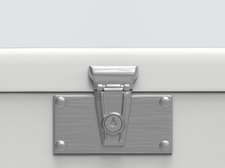 3d rendering. close up on key locked part of safty lockbox with copy space background. Banco de Imagens