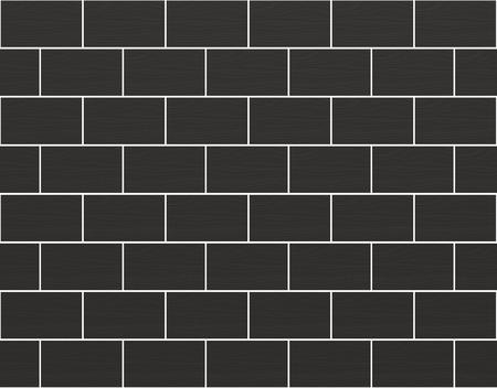 3d rendering. Seamless dark rectangle stone brick blocks wall texture background. Reklamní fotografie