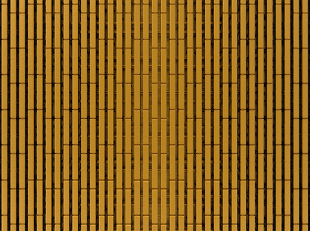 3d rendering. Gold bars wall texture background.