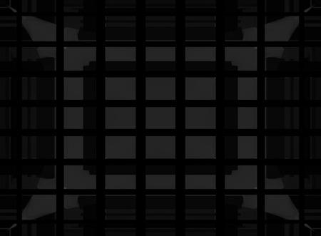 3d rendering. Abstract Drak black squares wall background. Reklamní fotografie