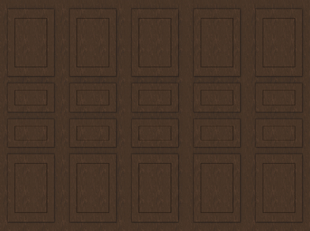 3d rendering. brown wooden classical pattern wall background.