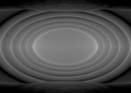 3d rendering. Abstract modern dark ripple Elipse shape wall background. Banco de Imagens