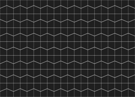3d rendering. Abstract seamless black trapezoidal pattern wall background.