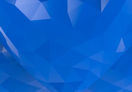 3d rendering. Modern blue tri low polygonal wall background.