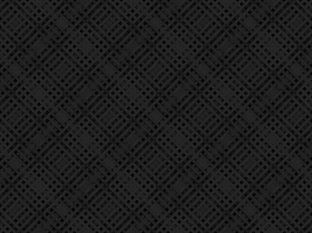 3d rendering. black diagonal square grid pattern art design wall background.