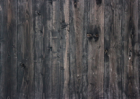 aged dark wood panels wall background for vintage design texture.