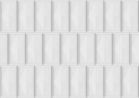 3d rendering. Modern gray classical square pattern wall for any design background.