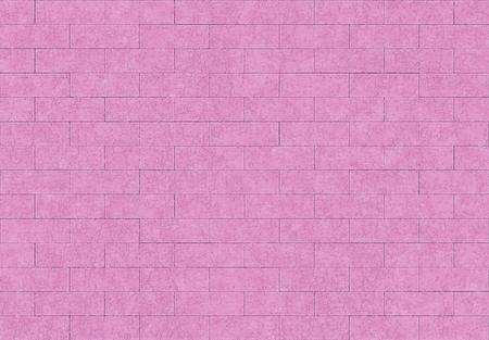 3d rendering. seamless sweet pink purple color brick blocks wall background.