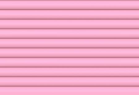 3d rendering. sweet soft pink color tone horizontal cylinder curve pattern shutter door wall background. Reklamní fotografie