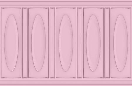 3d rendering. luxury sweet soft pink oval classical pattern wood wall background 版權商用圖片