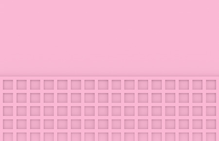 3d rendering. soft tone color pink square pattern wall background. Stockfoto - 123086124
