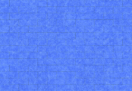 3d rendering. seamless modern blue color brick blocks pattern texture surface wall background.