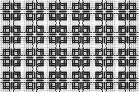 3d rendering. seamless chinese orientle style design of modern square grid line pattern wall background. Stok Fotoğraf