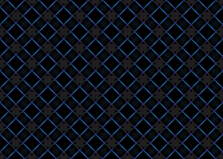 3d rendering. seamless modern dark blue light tone square grid line pattern design wall background.
