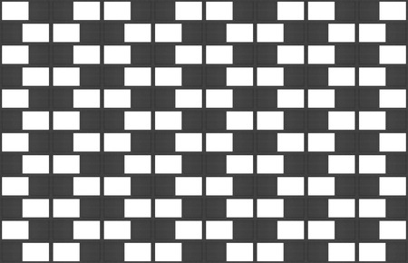 3d rendering. modern seamless white and black brick block wall texture design background. Stok Fotoğraf