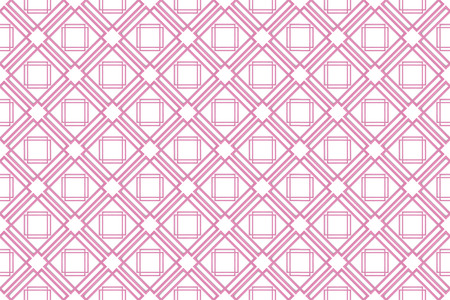 3d rendering. seamless sweet soft pink grid square art pattern design tile wall background. Stockfoto - 124931855