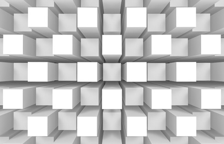 3d rendering. modern abstract random square cube box bar stack wall design art wall background.