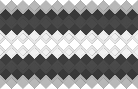 3d rendering. seamless modern light and dark gray square grid pattern wall design background.