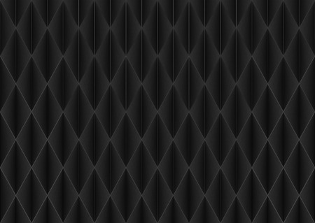 3d rendering. seamless modern dark square grid pattern wall background. Stockfoto