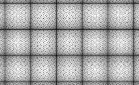 3d rendering. vintage black line stripe square tile pattern design sofa surface wall background. Imagens