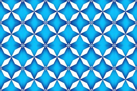 3d rendering. seamless modern retro grid flower shape pattern design wall backgorund. Imagens