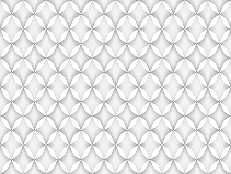 3d rendering. seamless modern white grid pattern design wall background.