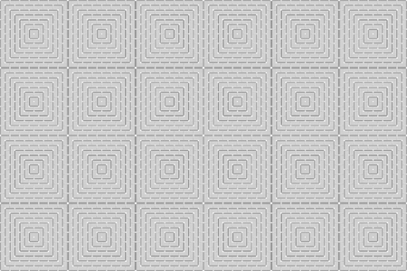 3d rendering. modern masaic square grid level tile pattern design wall background. Stockfoto