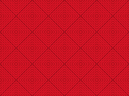 3d rendering. modern masaic red square grid level tile pattern design wall background.